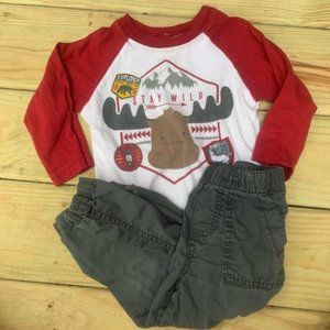 Nanette Kids Stay Wild Graphic Outfit Set 24 month